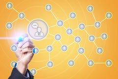 Ludzie ikony sieci SMM marketingowy medialny socjalny Zdjęcie Stock