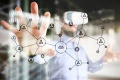 Ludzie ikony struktury socjalny sieci Hr Działu Zasobów Ludzkich zarządzanie Biznesowy interneta i technologii pojęcie obraz stock
