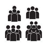 Ludzie ikony ustawiającej w modnym mieszkanie stylu odizolowywającym na tle Tłumów znaki Persons symbol dla twój infographics str ilustracji