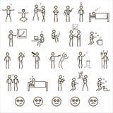 ludzie ilustracyjni 3 d ikony topione Fotografia Royalty Free