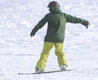 Ludzie jazda na snowboardzie na śniegu Fotografia Royalty Free