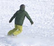 Ludzie jazda na snowboardzie na śniegu Obraz Royalty Free