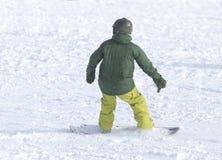Ludzie jazda na snowboardzie na śniegu Fotografia Stock