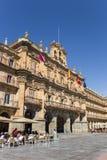 Ludzie je i pije na głównym placu Salamanca Obrazy Royalty Free