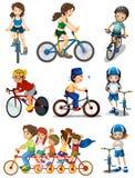 Ludzie jechać na rowerze Zdjęcie Royalty Free