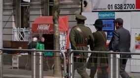 Ludzie jest ubranym okresów mundury Irlandzki republikanin buntują się w Dublin 2016 obrazy royalty free