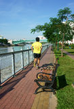 Ludzie jogging, zdrowy styl życia Zdjęcie Stock