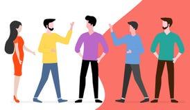 Ludzie komunikują 3d sieć obrazek odpłacający się ogólnospołecznym Grupowa gadka ilustracja wektor
