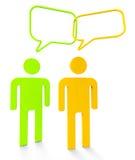 Ludzie Komunikuje przedstawienia Mówi Persons I komunikację royalty ilustracja
