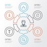 Ludzie kontur ikon Ustawiać Kolekcja Ogólnospołeczni powiązania, samiec, głowa I Inni elementy, Także Zawiera symbole Tak jak zdjęcie stock