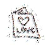 Ludzie kształt broszury ślubu Zdjęcia Stock