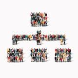 ludzie kształta znaka hierarchii Zdjęcia Royalty Free