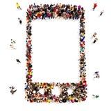 Ludzie które używają bezprzewodową komunikację Zdjęcie Stock