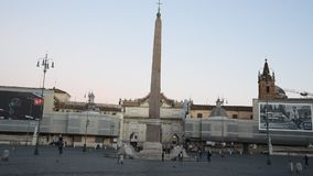 Ludzie kwadrata i lwa kwadrat w Rzym zbiory wideo