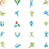 Ludzie, logowie, kolekcja, logowie royalty ilustracja