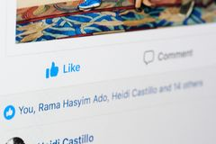 Ludzie lubi facebook poczta Obrazy Stock