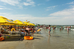 Ludzie ma zabawę na plaży Zdjęcia Royalty Free