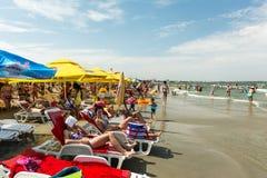 Ludzie ma zabawę na plaży Zdjęcie Stock