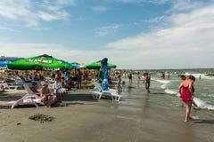 Ludzie ma zabawę na plaży Obraz Royalty Free