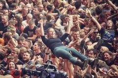 Ludzie ma zabawę przy koncertem Obraz Royalty Free