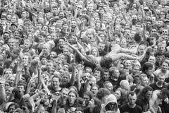 Ludzie ma zabawę przy koncertem Zdjęcie Royalty Free