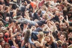 Ludzie ma zabawę przy koncertem Fotografia Stock