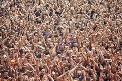 Ludzie ma zabawę przy koncertem Zdjęcia Royalty Free