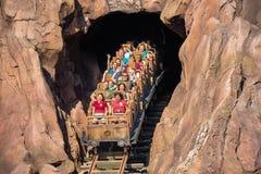 Ludzie ma zabawy wyprawy Everest kolejkę górską w Zwierzęcym królestwie przy Walt Disney World 10 obraz stock
