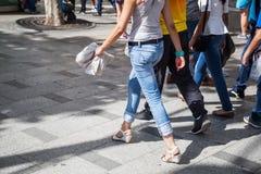 ludzie miasta chodzić Obraz Stock