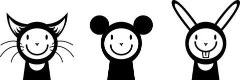 ludzie śmieszne myszy królik Zdjęcia Stock