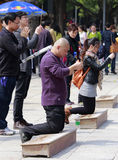 ludzie modlą się Zdjęcia Stock