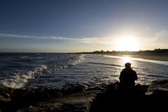 Ludzie morzem Fotografia Royalty Free