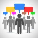 Ludzie mowa, dyskusja, brainstorming ilustracja wektor