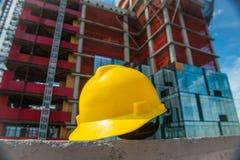 Ludzie na budowy i bezpieczeństwa technic pojęcia fotografii obraz stock
