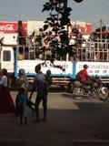 Ludzie na ciężarówce obrazy stock