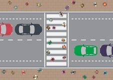 Ludzie na crosswalk Zdjęcie Stock