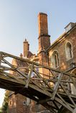 Ludzie na kanałach Cambridge, Anglia, Zjednoczone Królestwo obraz royalty free