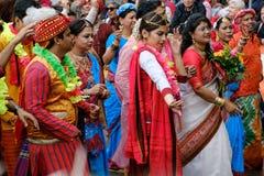 Ludzie na Karneval dera Kulturen karnawale kultury w Berl Zdjęcie Stock