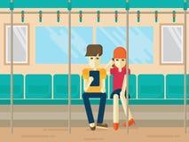 Ludzie na metra mieszkania stylu Zdjęcia Royalty Free
