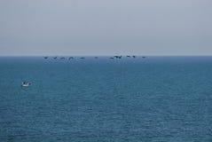 Ludzie na łodzi na Czarnym morzu Zdjęcie Royalty Free