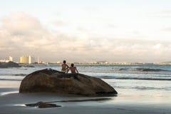 Ludzie na plaży Fotografia Stock