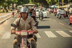 Ludzie na ulicie kraj azjatycki - Wietnam i Kambodża Zdjęcie Royalty Free