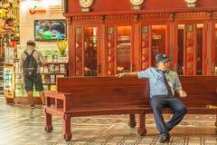 Ludzie na ulicie kraj azjatycki - Wietnam i Kambodża Fotografia Stock