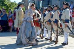 Ludzie odgrywa Nową Francja erę Obrazy Royalty Free