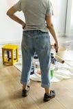 Ludzie odnawi domowego pojęcie zdjęcie stock