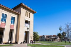 Ludzie odwiedza Santa Clara kampus zdjęcia royalty free