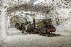 Ludzie odwiedzają górniczej rośliny Sondershausen w Niemcy Obraz Stock