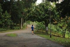 Ludzie outdoors w Bishan Ang Mo Kio parku w Singapur Zdjęcie Stock