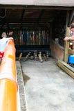 Ludzie patrzeją na kręglach gemowych przy tradycyjnym jarmarkiem Fotografia Stock