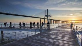Ludzie photographig wschodu słońca Obraz Royalty Free